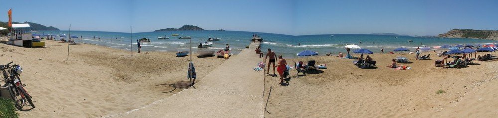 Arillas Beach Corfu panoramic